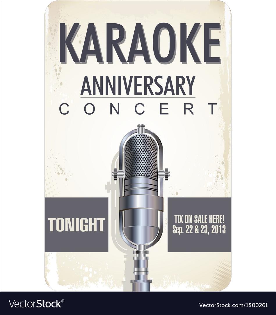 Karaoke poster background vector | Price: 1 Credit (USD $1)