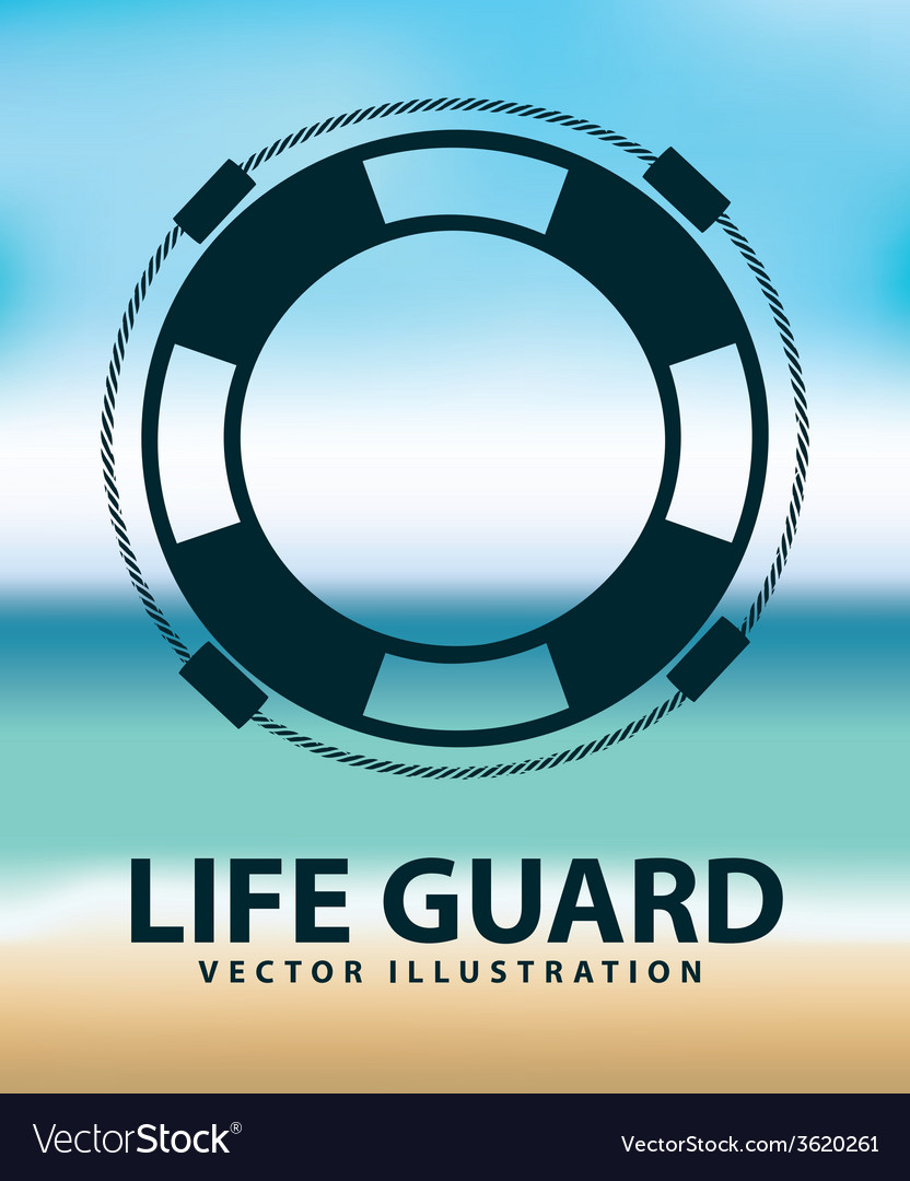 Life guard vector | Price: 1 Credit (USD $1)
