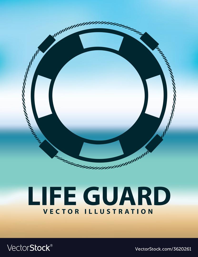 Life guard vector | Price: 1 Credit (USD $1)