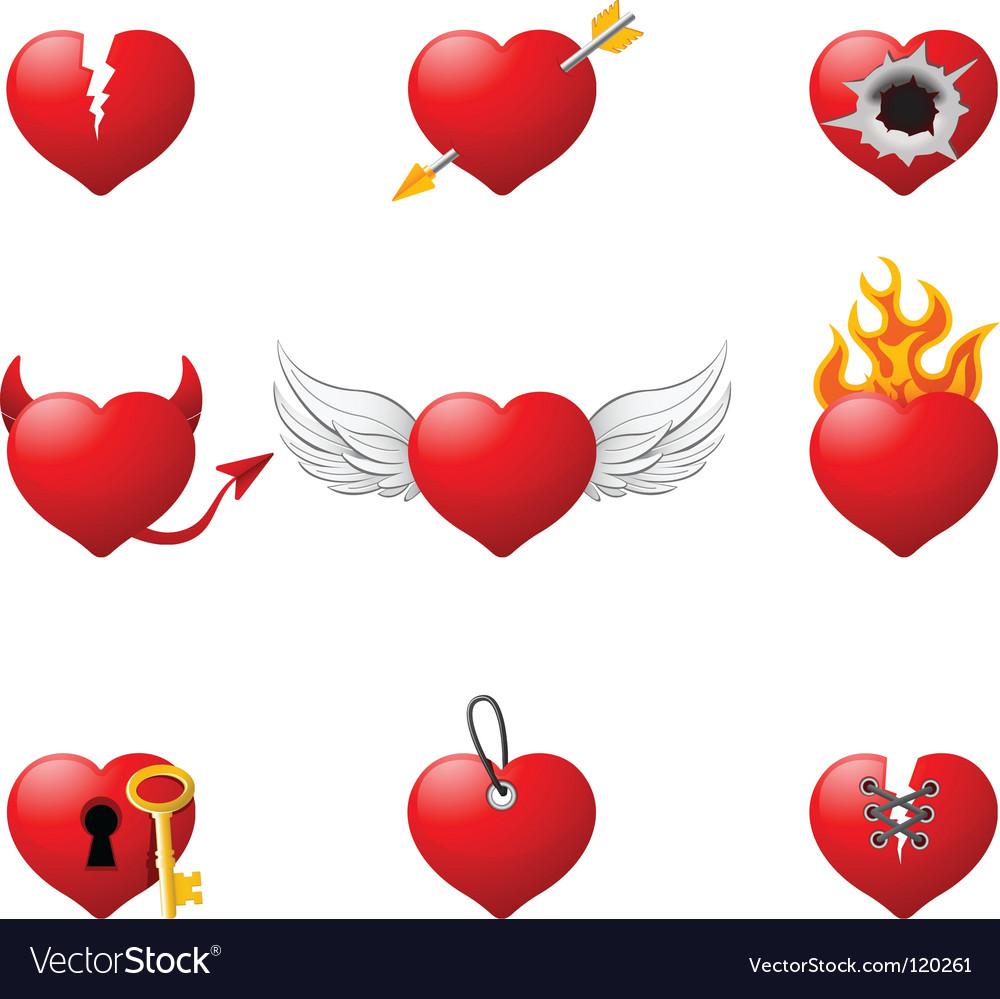 Love hearts vector   Price: 1 Credit (USD $1)