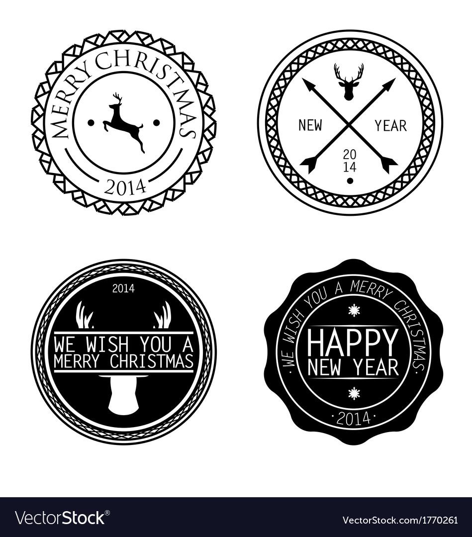 Merry xmas badges vector   Price: 1 Credit (USD $1)