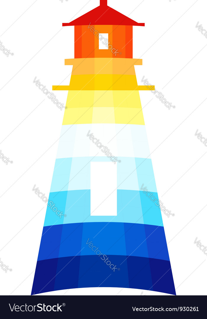 Modern lighthouse vector | Price: 1 Credit (USD $1)
