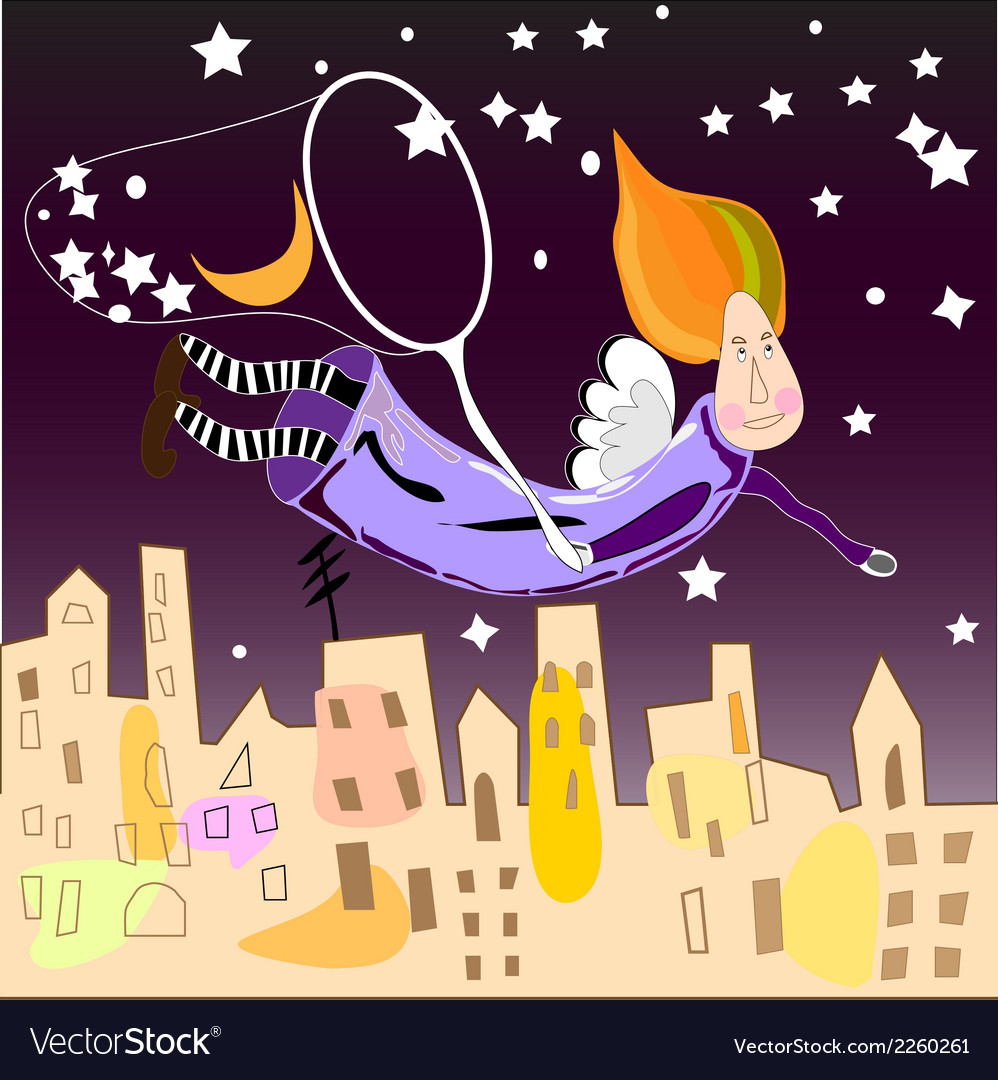 Night fairy in the city vector | Price: 1 Credit (USD $1)