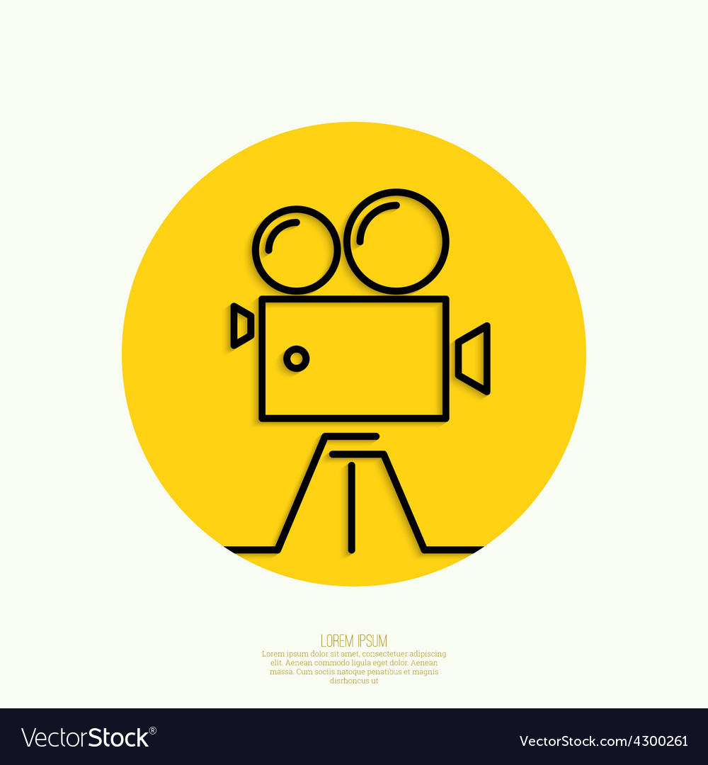 Old movie camera vector | Price: 1 Credit (USD $1)
