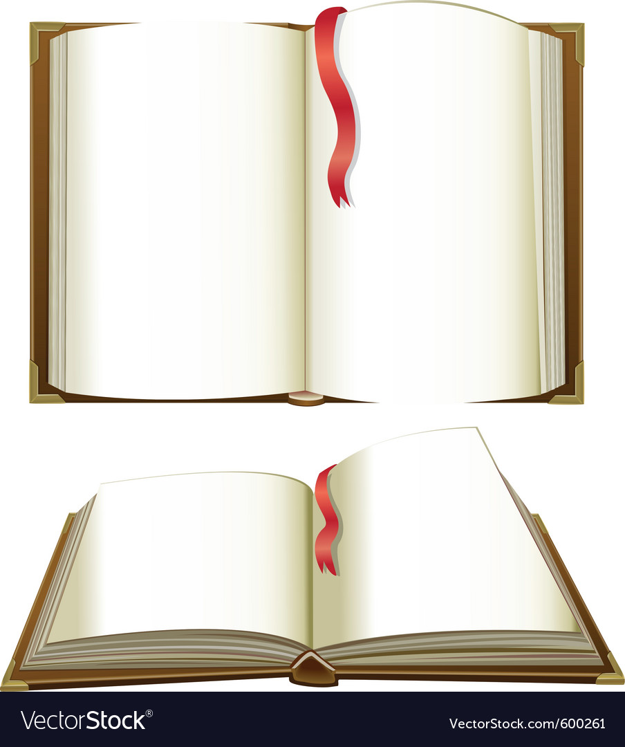 Opened books with blank pages vector | Price: 1 Credit (USD $1)