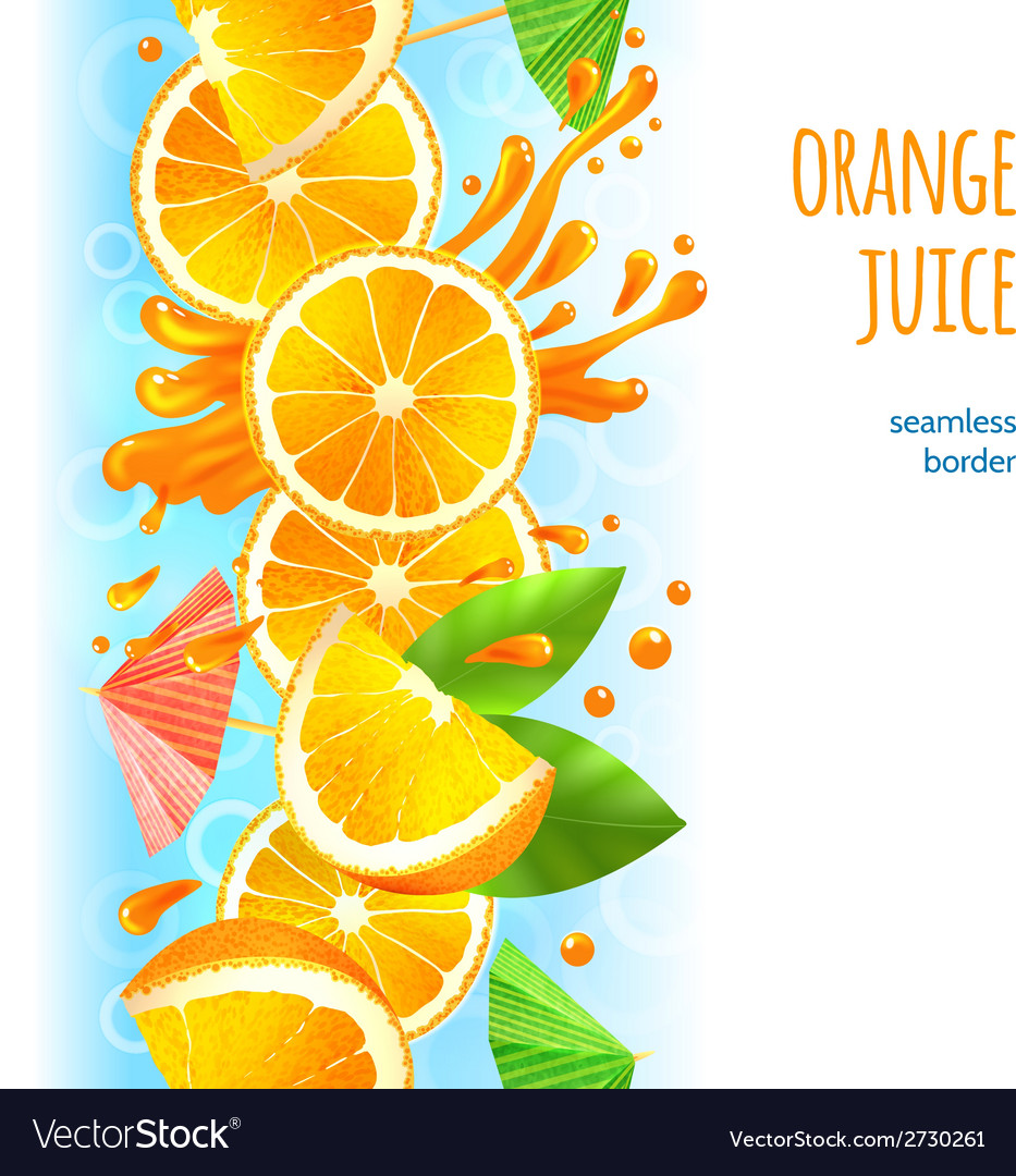 Orange juice border vector | Price: 3 Credit (USD $3)
