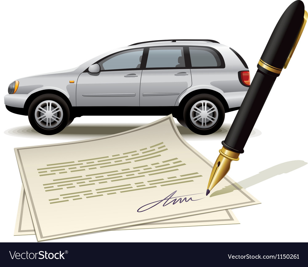 Paperwork for car vector | Price: 1 Credit (USD $1)