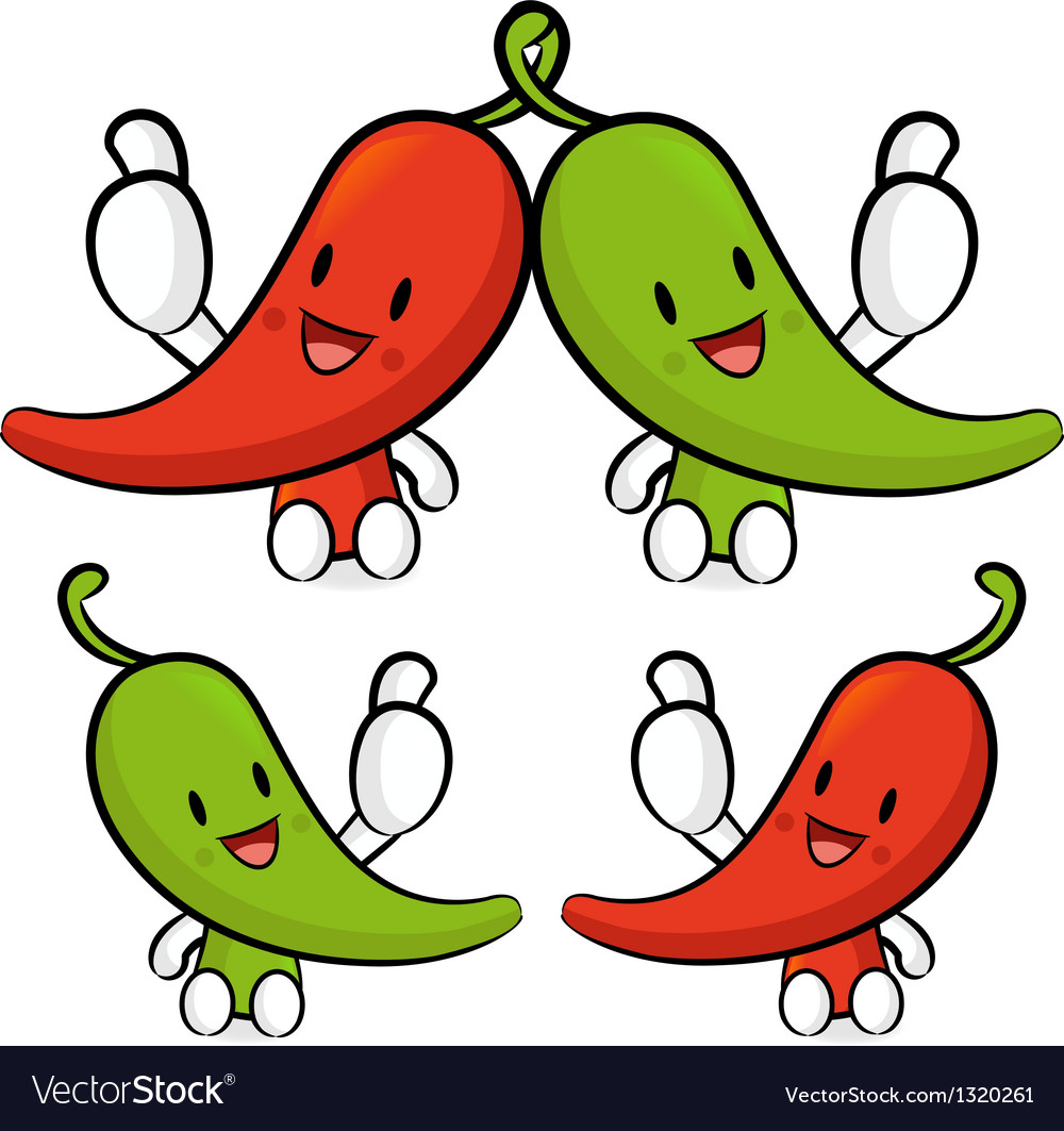 Red pepper character couples are welcome to sit vector | Price: 1 Credit (USD $1)