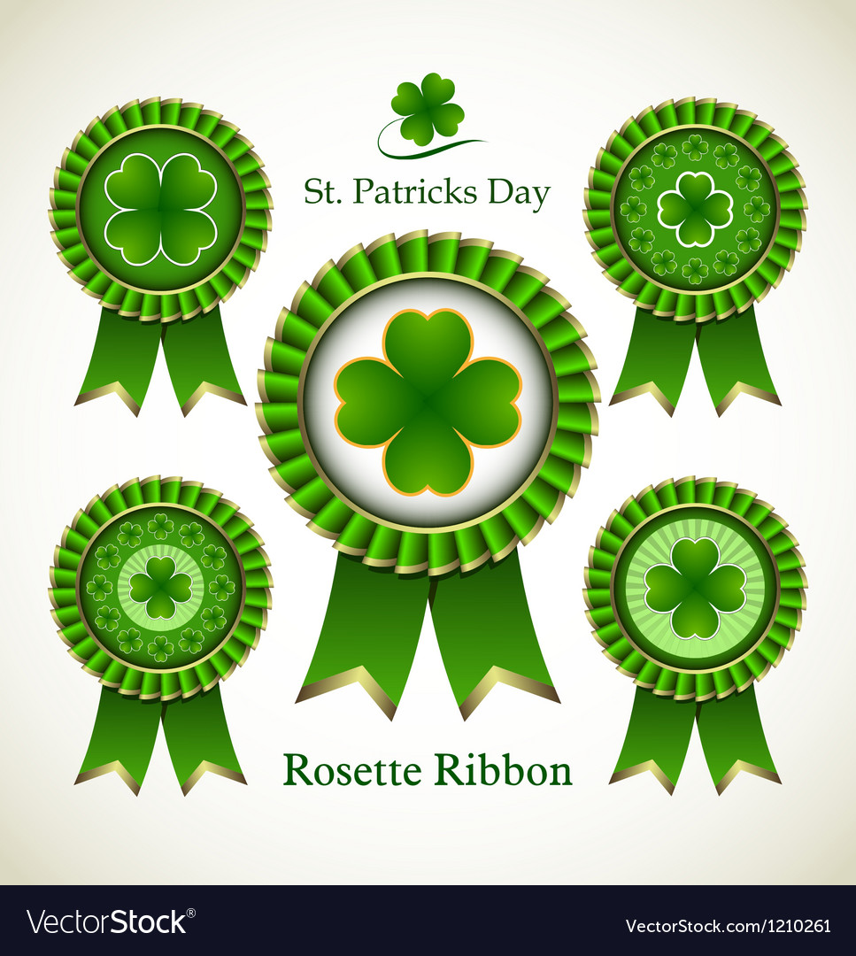 St patricks day rosette ribbon vector | Price: 1 Credit (USD $1)
