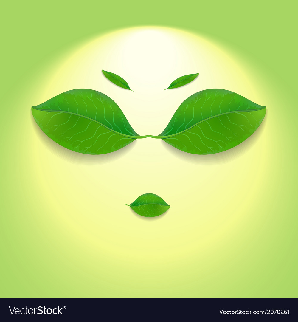 Sun face vector | Price: 1 Credit (USD $1)