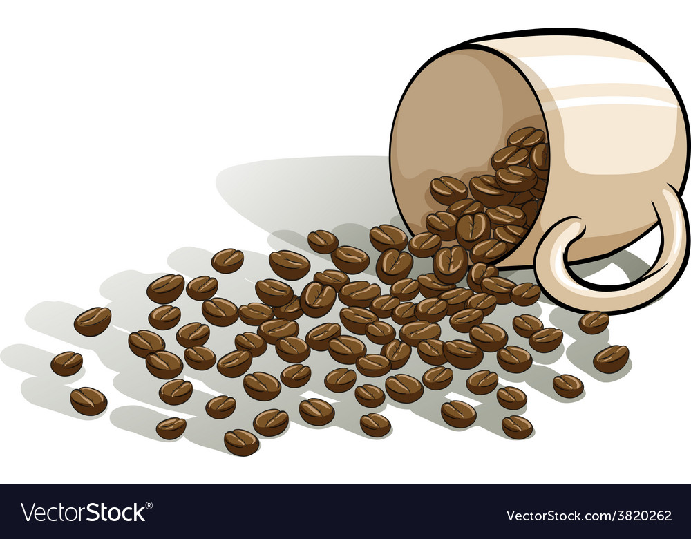 A mug and the spilled beans vector | Price: 3 Credit (USD $3)