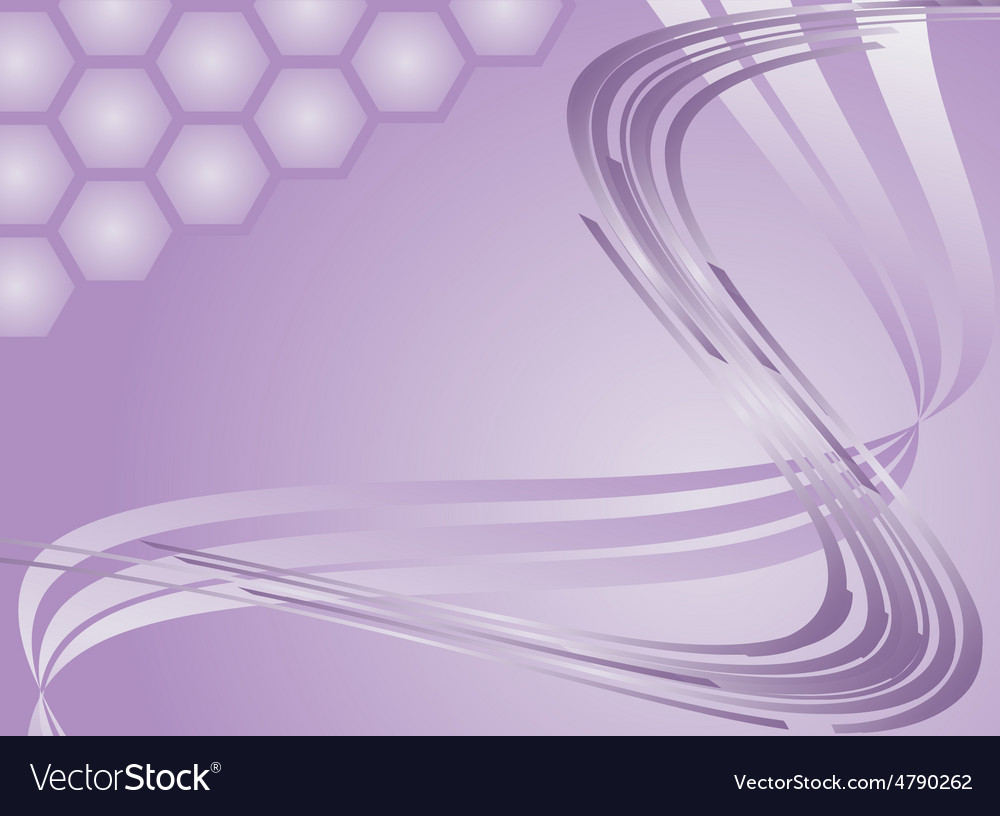 A wave is violet and honeycombs vector | Price: 1 Credit (USD $1)