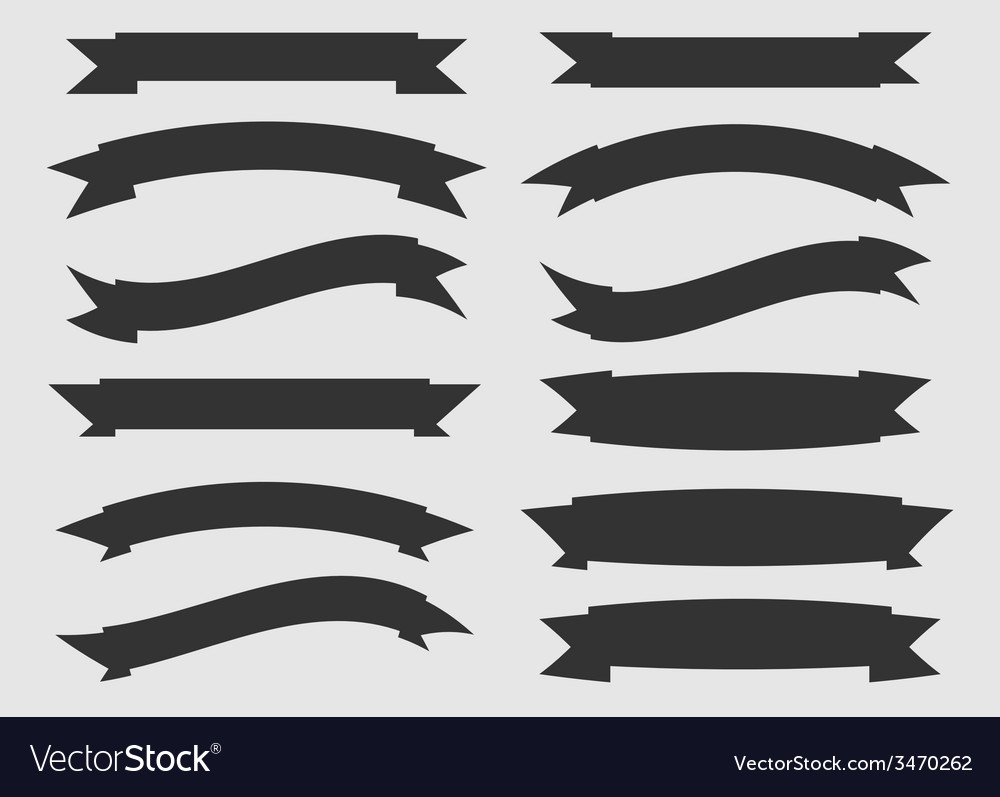 Black and white ribbons vector | Price: 1 Credit (USD $1)