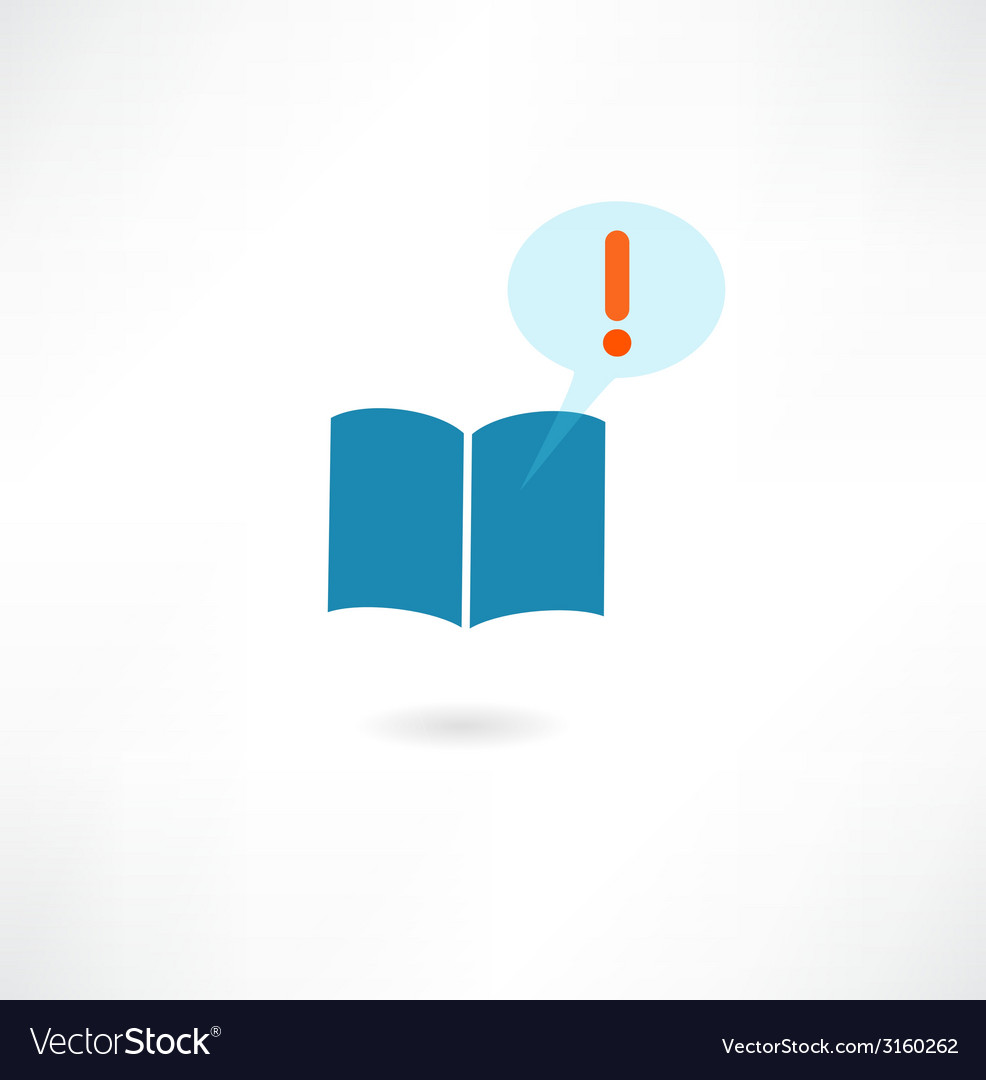 Book with a message icon vector | Price: 1 Credit (USD $1)