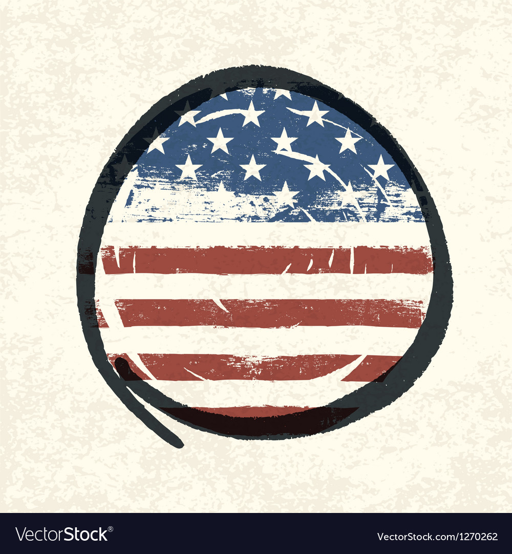Circle shaped usa flag vector | Price: 1 Credit (USD $1)
