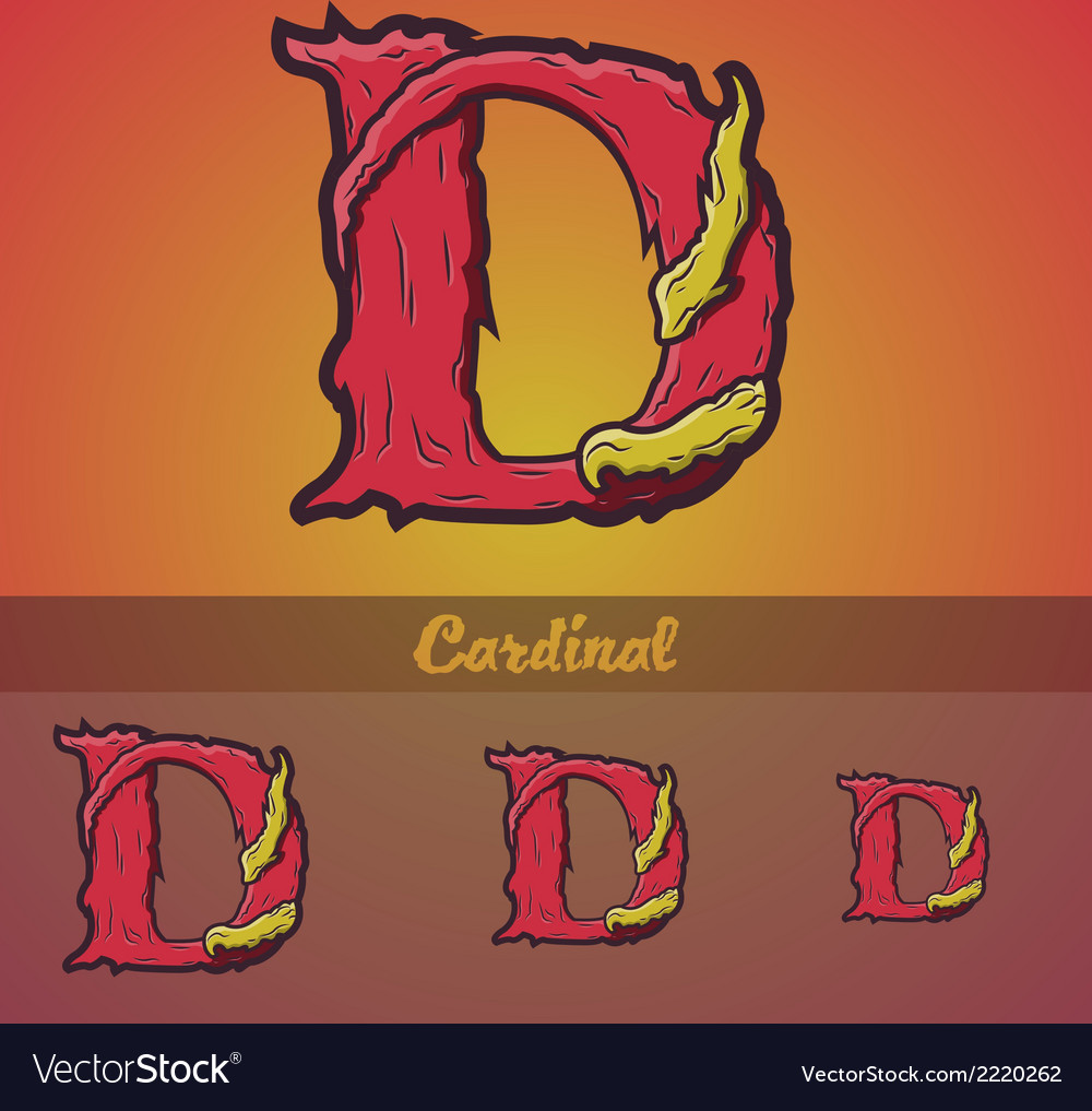 Halloween decorative alphabet - d letter vector | Price: 1 Credit (USD $1)
