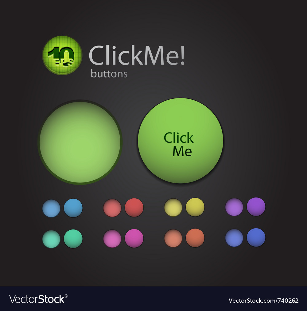 Original buttons vector | Price: 1 Credit (USD $1)