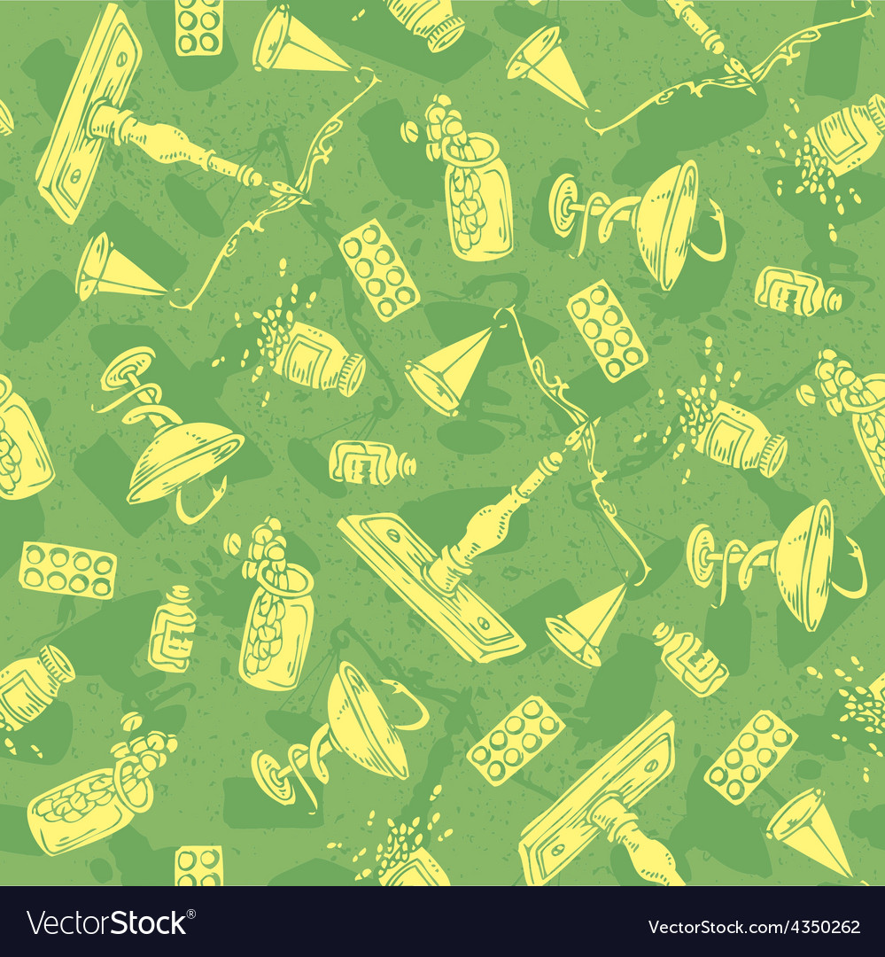 Pharmaceutical seamless pattern vector | Price: 1 Credit (USD $1)