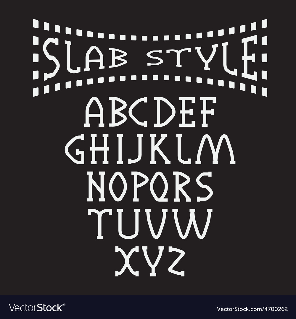 Slab style alphabet vector | Price: 1 Credit (USD $1)