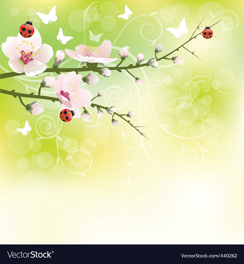 Spring blooming vector | Price: 1 Credit (USD $1)