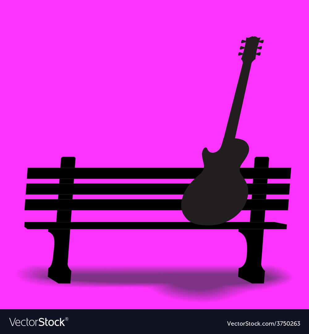 Bench guitar 2 vector | Price: 1 Credit (USD $1)