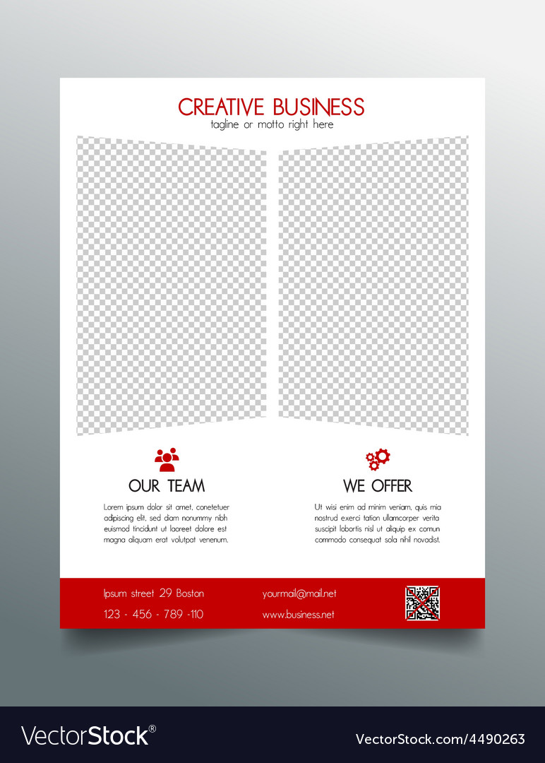 Creative business flyer template - red sleek desig vector | Price: 1 Credit (USD $1)