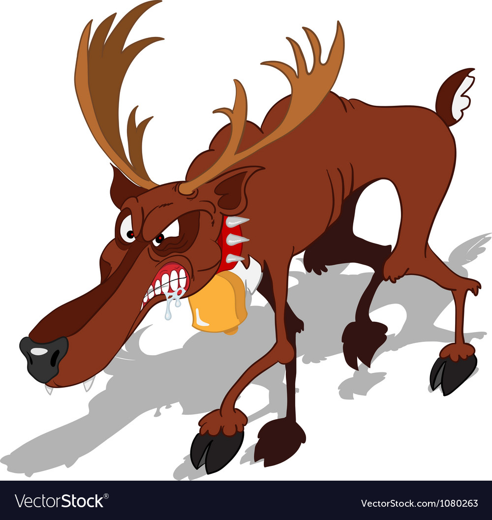 Dreadful reindeer vector | Price: 3 Credit (USD $3)