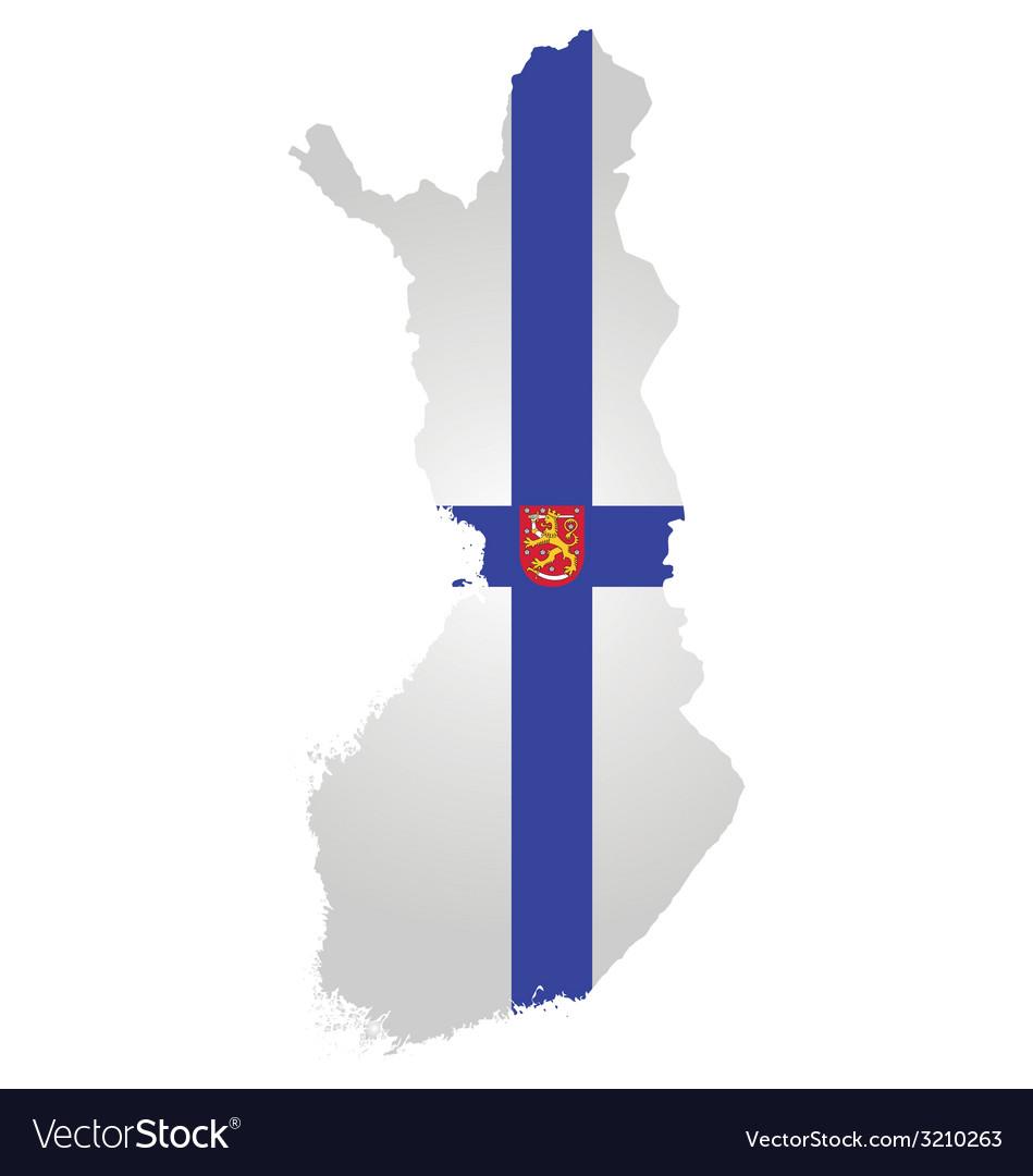 Finland flag vector | Price: 1 Credit (USD $1)