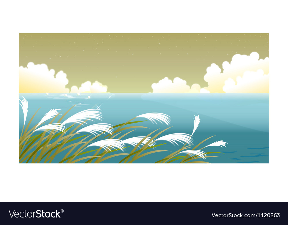 Grass blades against sky vector | Price: 1 Credit (USD $1)