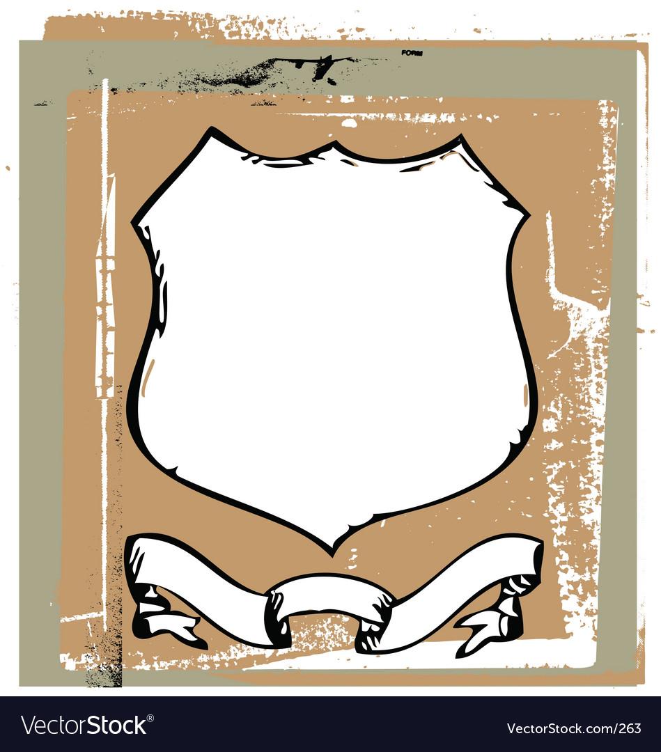 Grunge shield vector | Price: 1 Credit (USD $1)