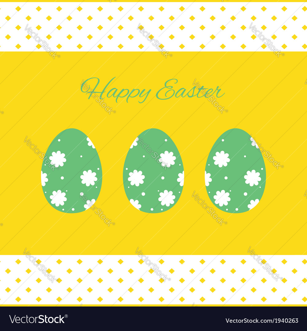 Happy easter cards with easter eggs vector | Price: 1 Credit (USD $1)