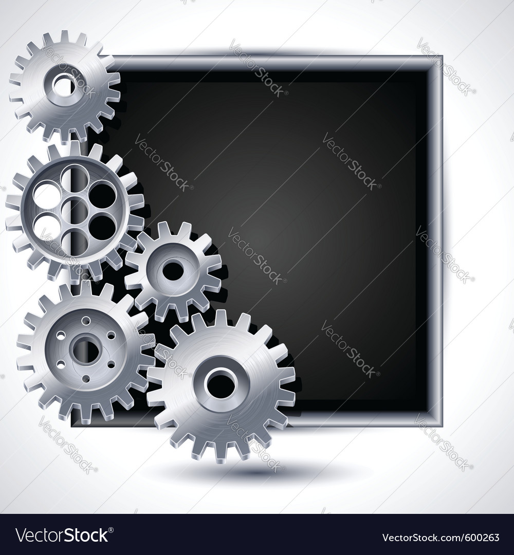 Mechanical gears vector | Price: 3 Credit (USD $3)
