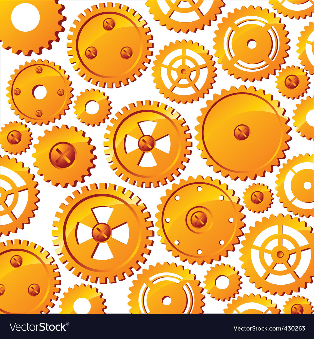 Mechanical wheels background vector | Price: 1 Credit (USD $1)