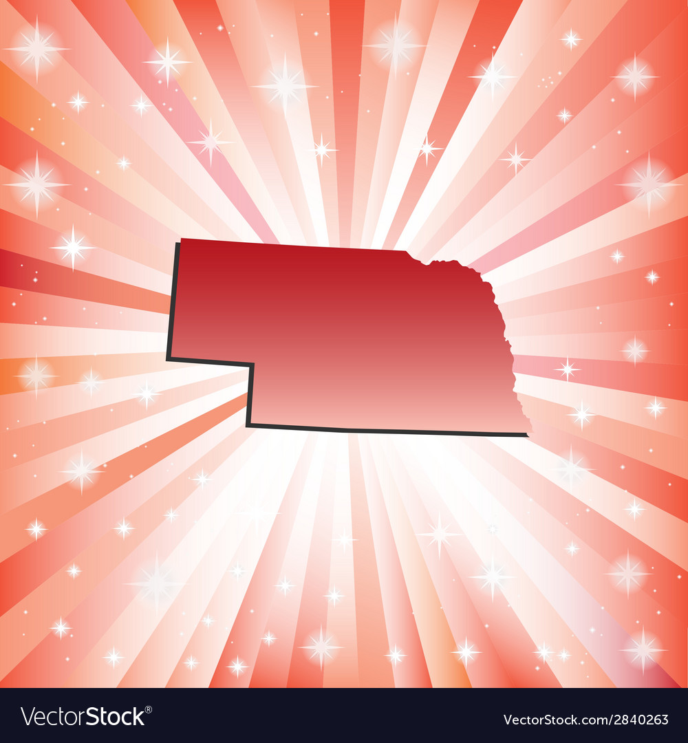Red nebraska vector | Price: 1 Credit (USD $1)