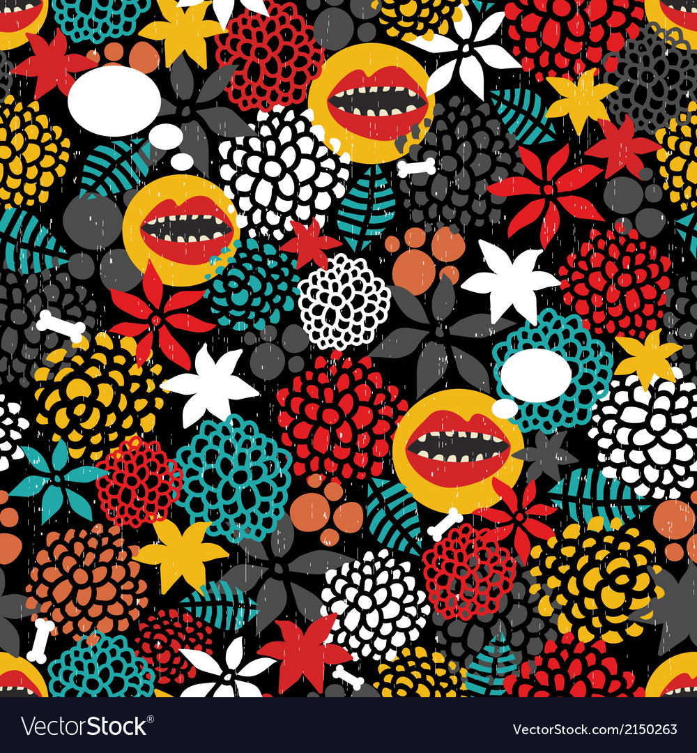 Round pattern with crazy mouth vector   Price: 1 Credit (USD $1)