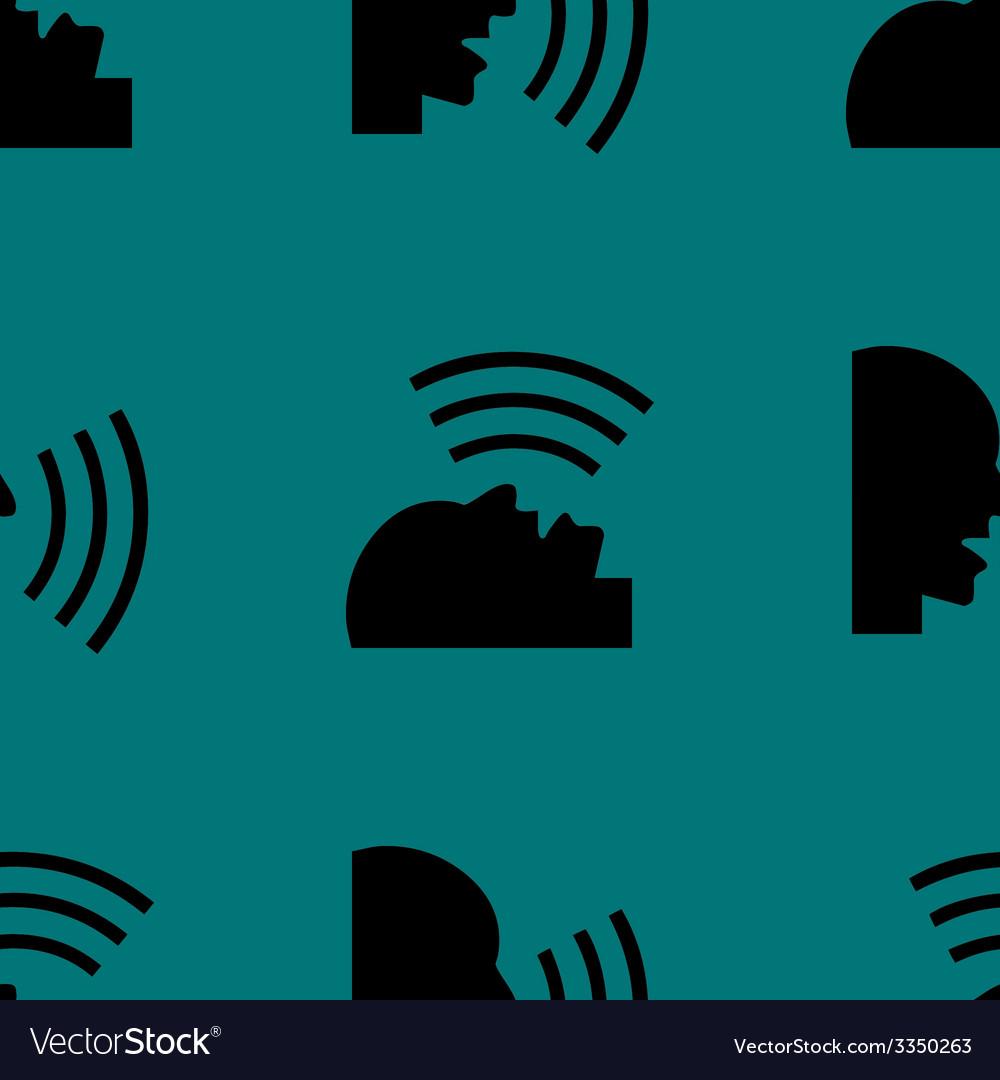 Talking web icon flat design seamless pattern vector | Price: 1 Credit (USD $1)