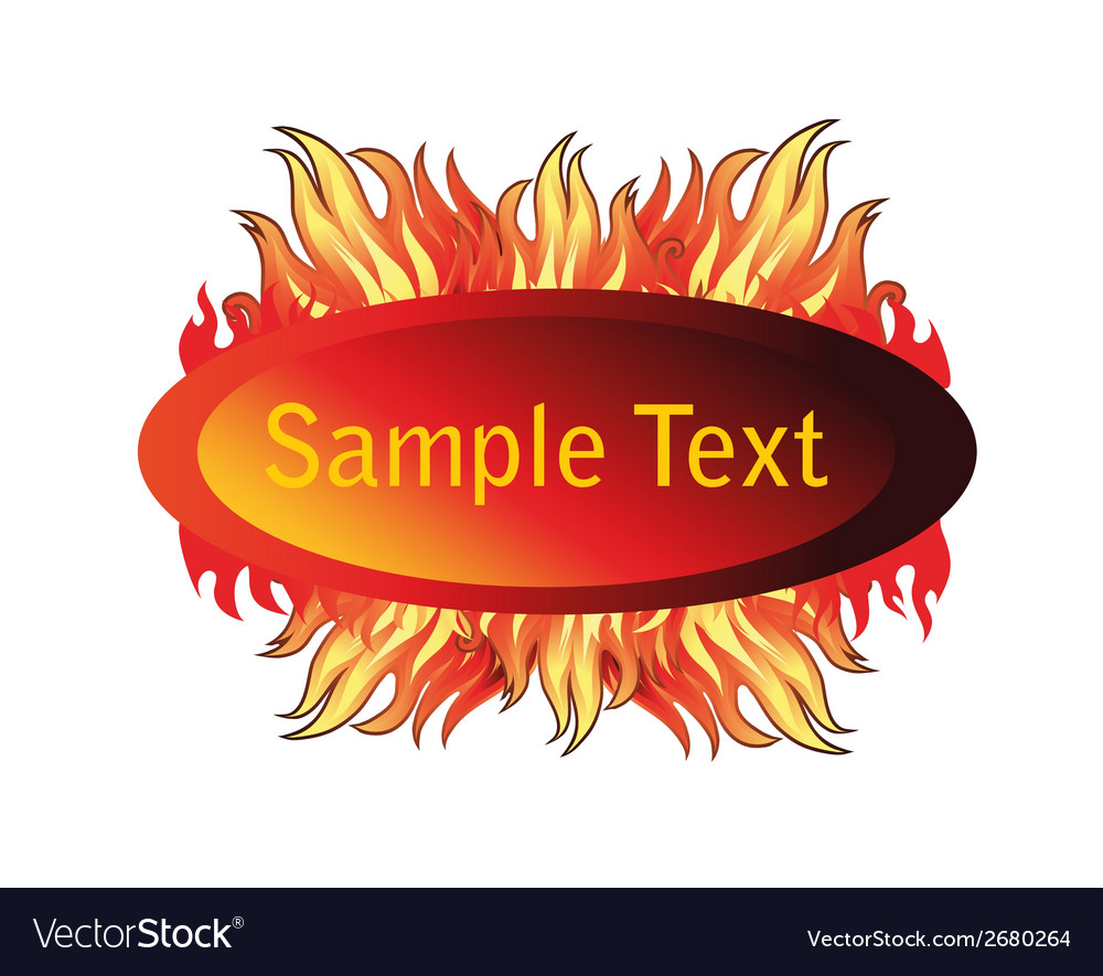 Abstract fire glossy speech bubble vector | Price: 1 Credit (USD $1)