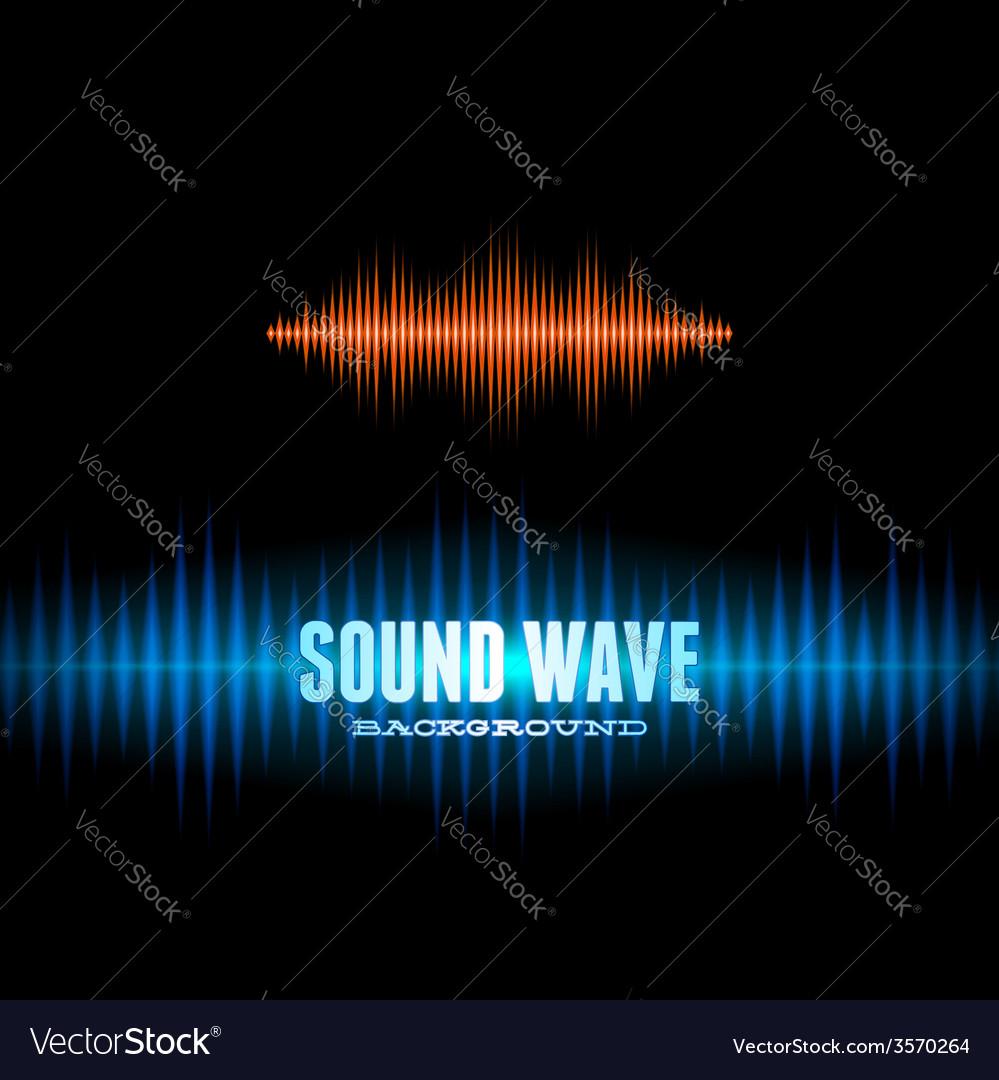 Blue and orange shiny sound waveform background vector | Price: 1 Credit (USD $1)