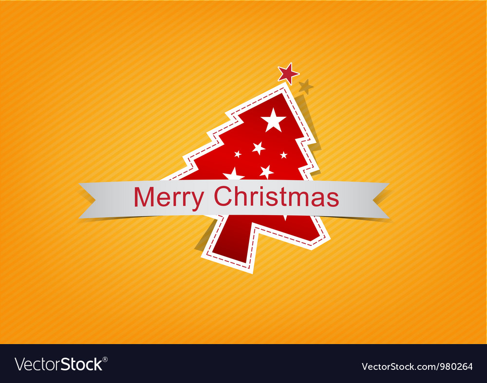 Christmas background label vector | Price: 1 Credit (USD $1)