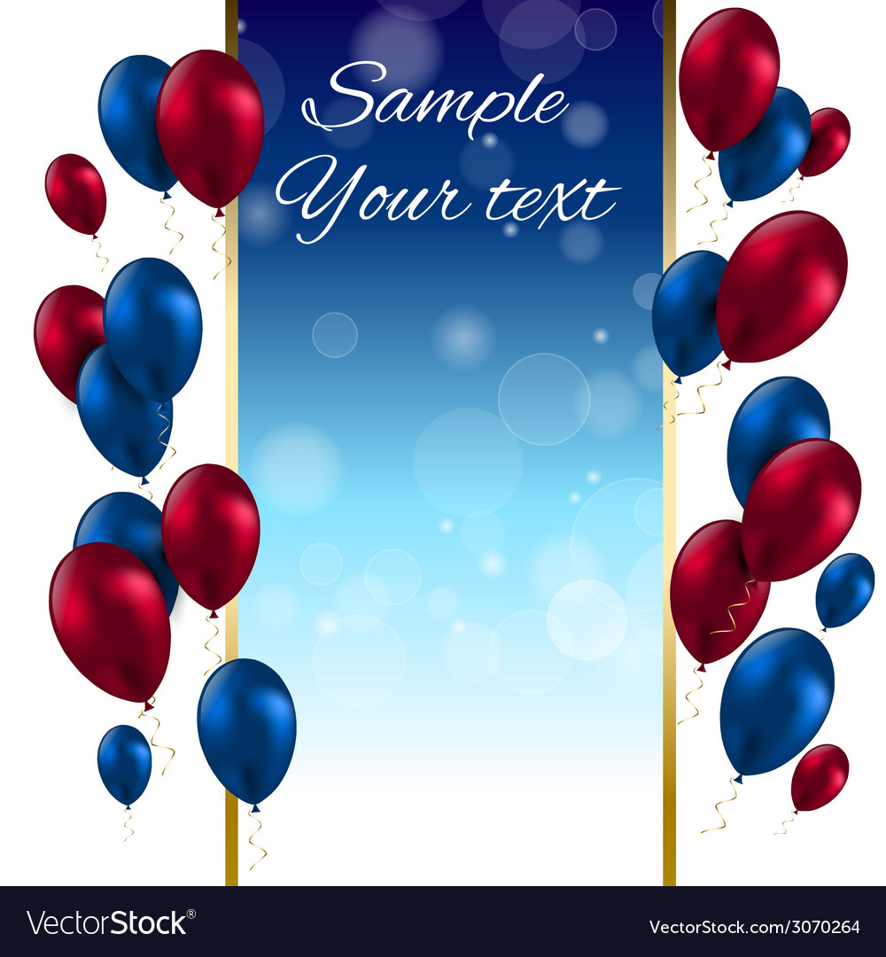 Color glossy balloons card vector | Price: 1 Credit (USD $1)