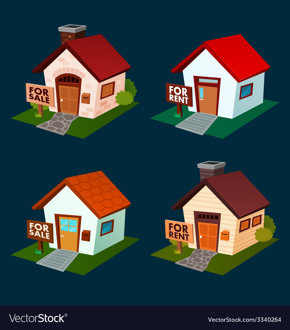 House for sale and rent vector | Price: 1 Credit (USD $1)