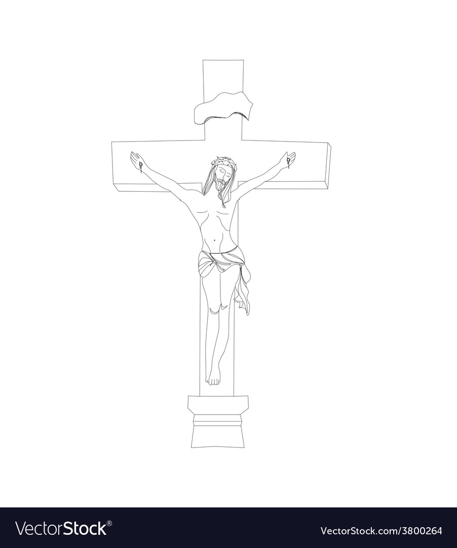 Jesus christ in the cross vector | Price: 1 Credit (USD $1)