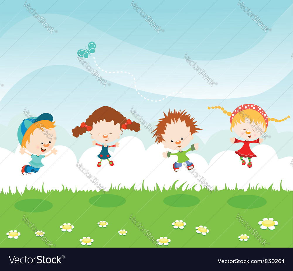 Jumping kids vector   Price: 3 Credit (USD $3)