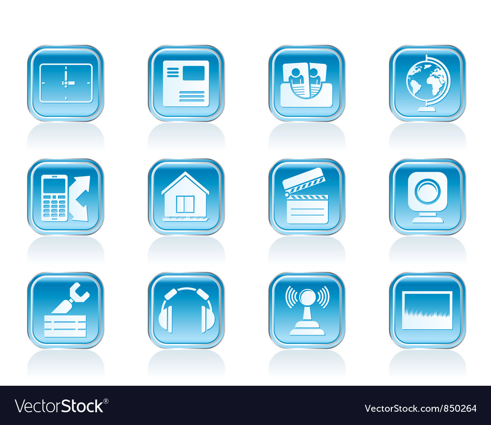 Mobile phone and computer icons vector | Price: 1 Credit (USD $1)
