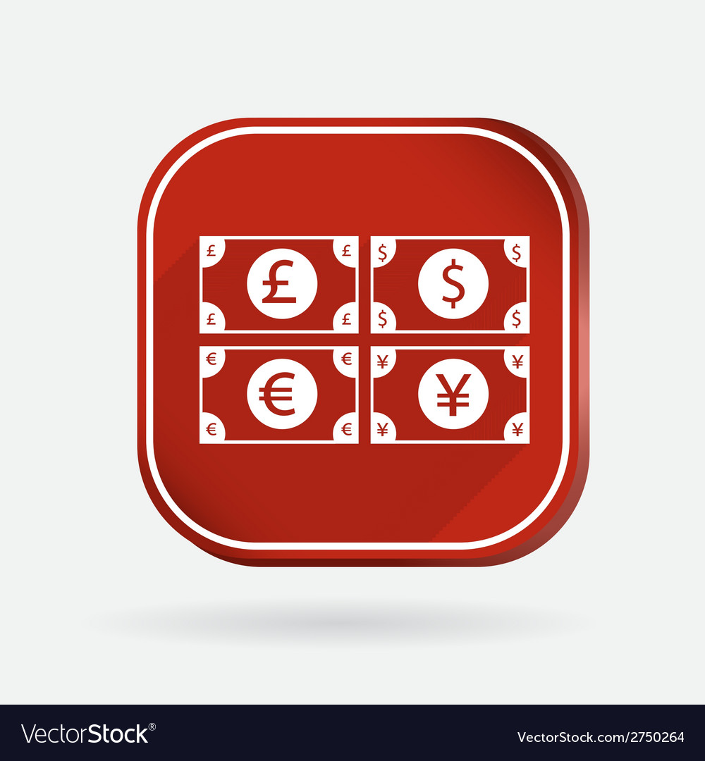 Money bill color square icon vector | Price: 1 Credit (USD $1)