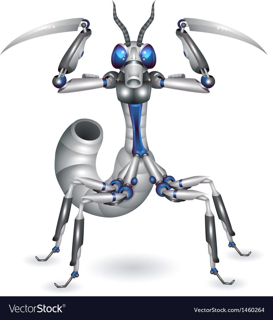 Robot-mantis vector | Price: 1 Credit (USD $1)