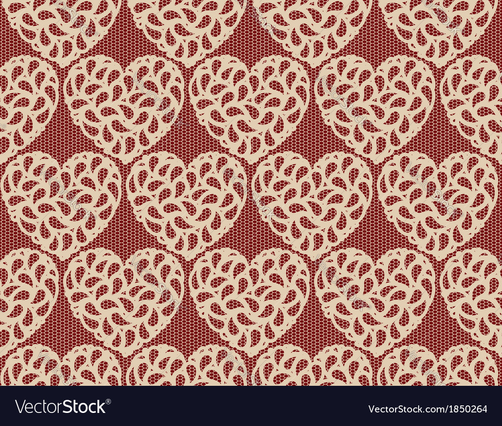 Seamless heart lace vector | Price: 1 Credit (USD $1)