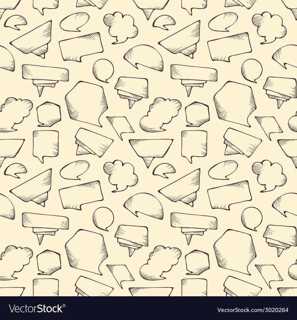 Seamless speech bubbles pattern vector | Price: 1 Credit (USD $1)