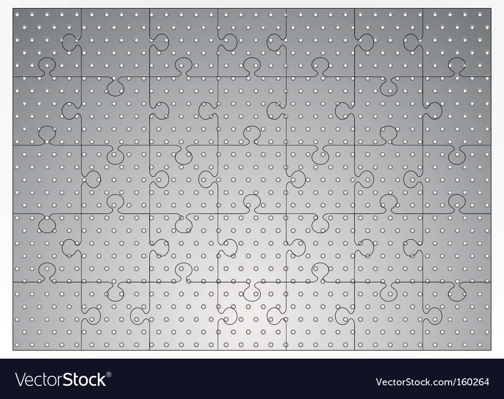 Silver metal jigsaw puzzle vector | Price: 1 Credit (USD $1)