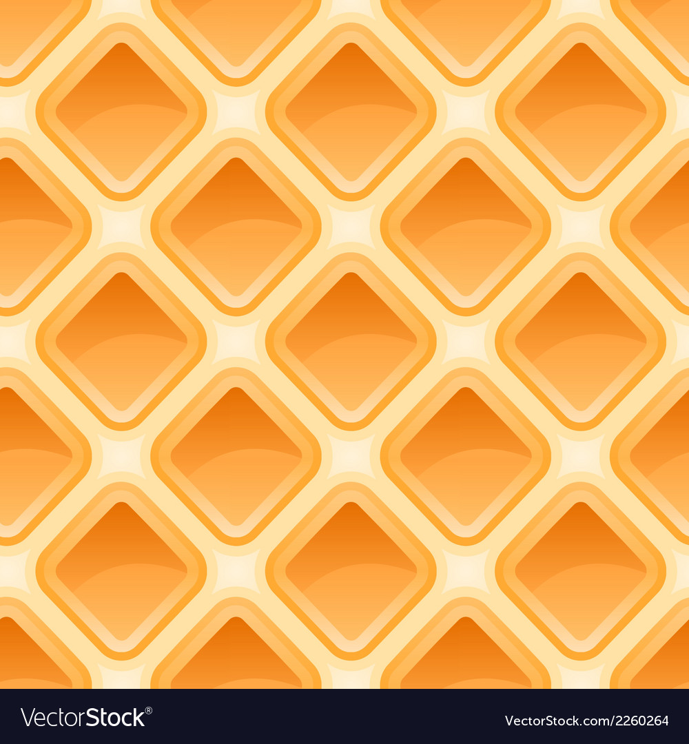 Waffles pattern seamless texture vector | Price: 1 Credit (USD $1)